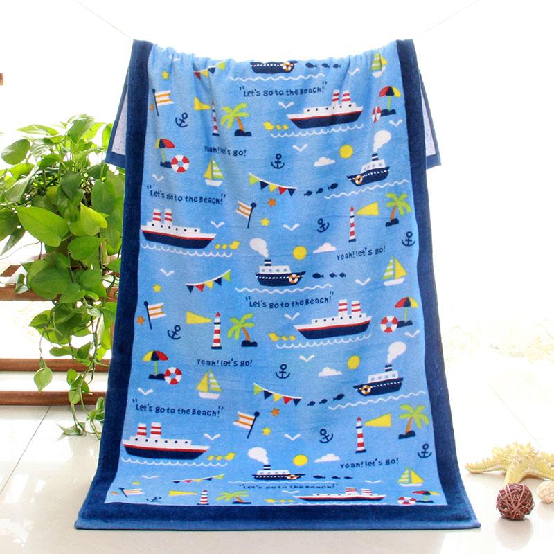 卡通全棉小浴巾家用小号小尺寸薄款便携儿童纯棉柔软吸水