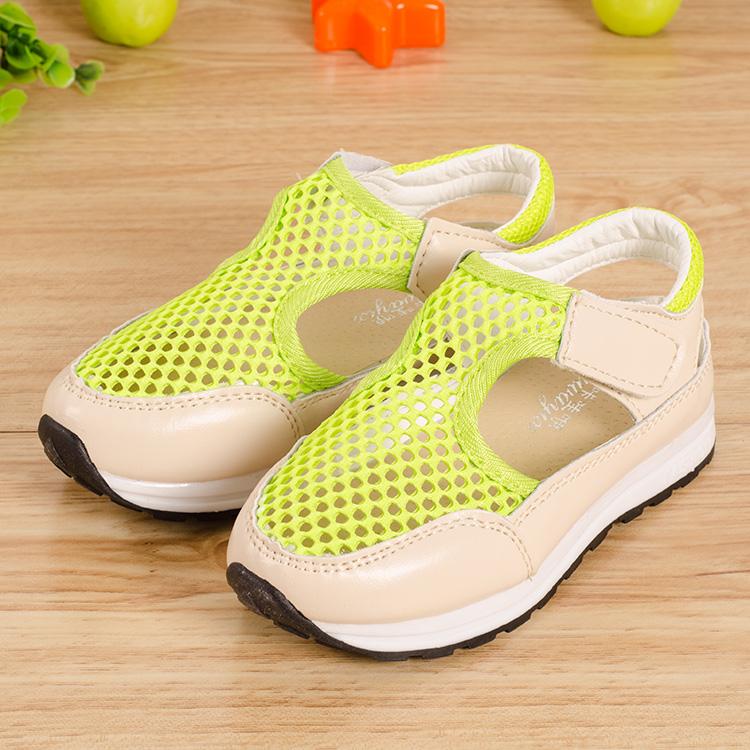 2017夏季3-4-5岁女童鞋网面公主鞋 韩版儿童运动凉鞋男童宝宝鞋子