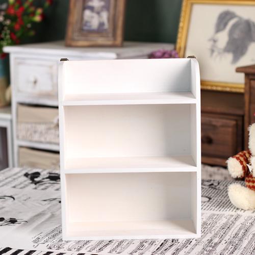 實木桌面雜物整理架三層置物架zakka桌面收納架小架子白色壁掛牆