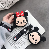 Coin purse key bag headset storage bag data cable charger storage box female models cute lanyard bag silicone