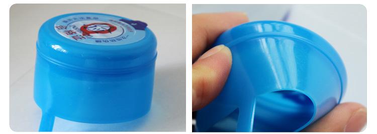 纯净水桶一次性盖桶装水桶盖子18.9升5加仑盖一次性盖子包邮蓝白