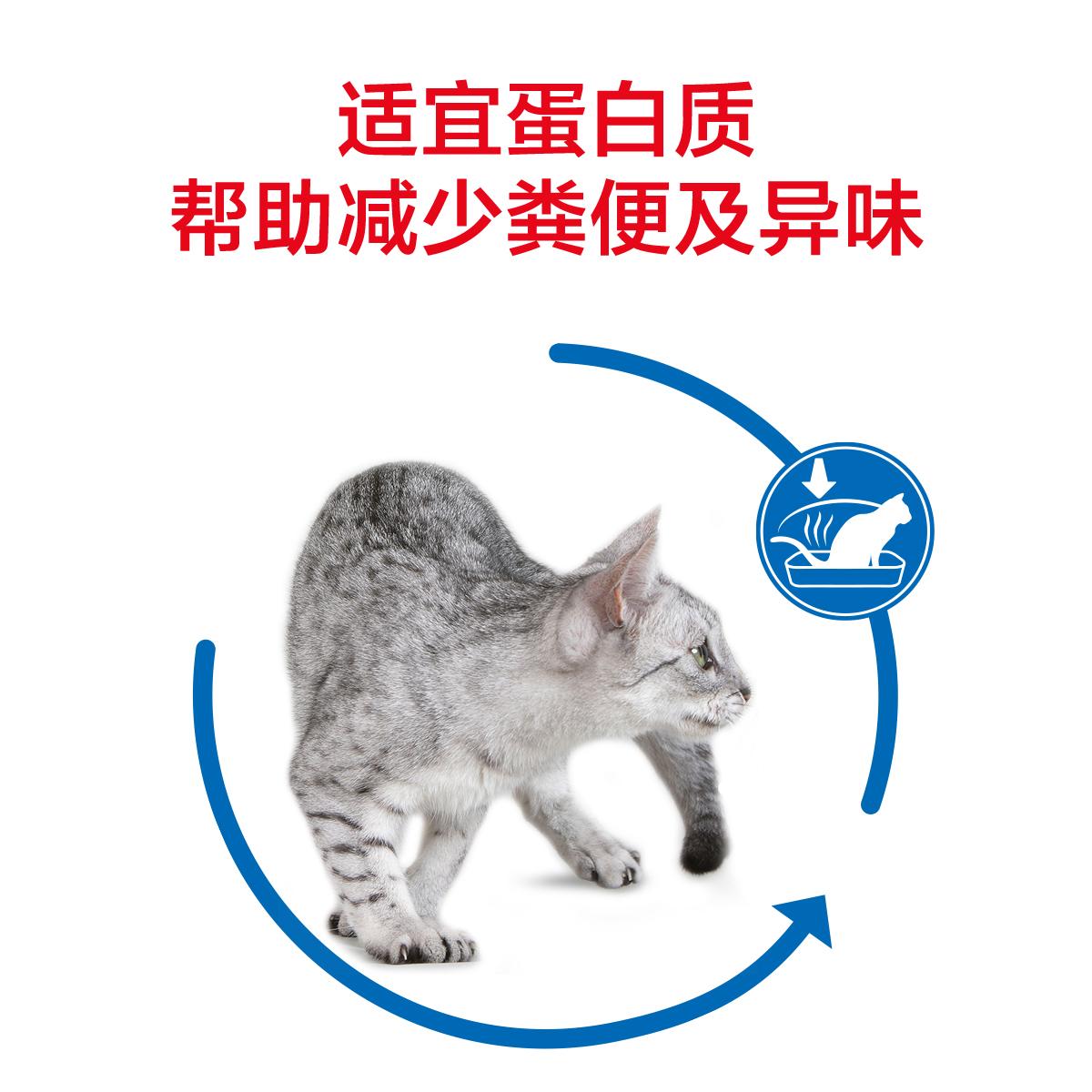 皇家猫粮成猫I27室内成猫粮去毛球400g*4美短英短蓝猫 非10kg公斤优惠券