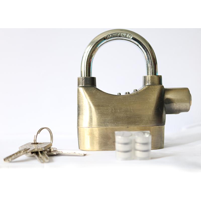 挂锁防盗挂锁仓库门锁电动车报警锁摩托车锁自行车锁报警大门挂锁