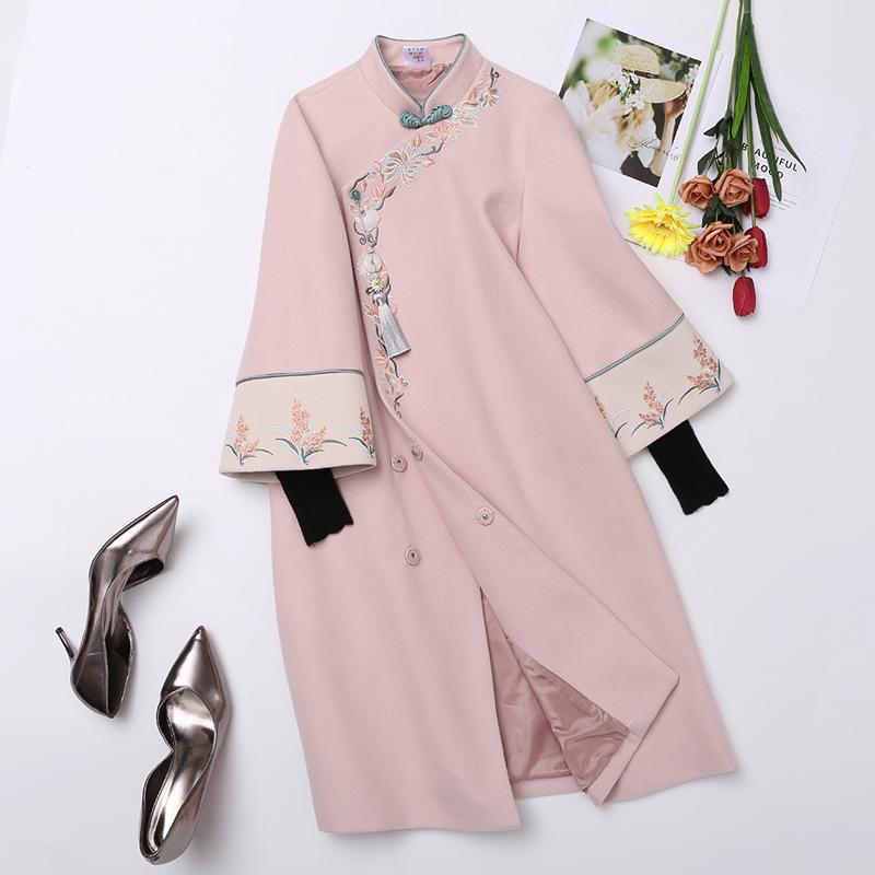 亲子装冬装母女装网红同款秋冬款外套洋气冬季明星创意唐装母子装
