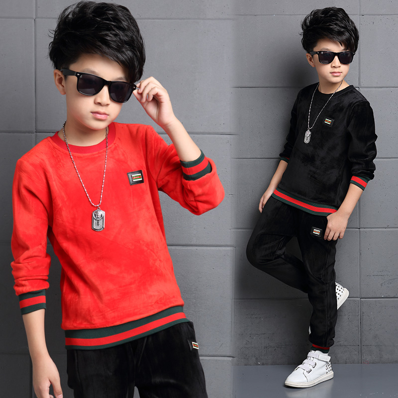 0165bab61b42 Buy 5 childrens clothing boys fall and winter clothes suit 2016 new ...