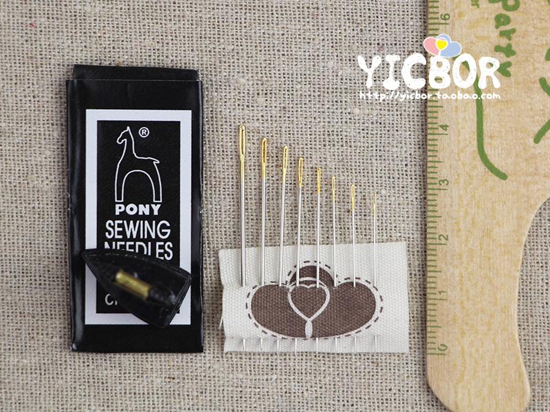 印度进口 pony 马牌 手缝针 缝衣针 绣花针 串珠针 金尾缝针 40款