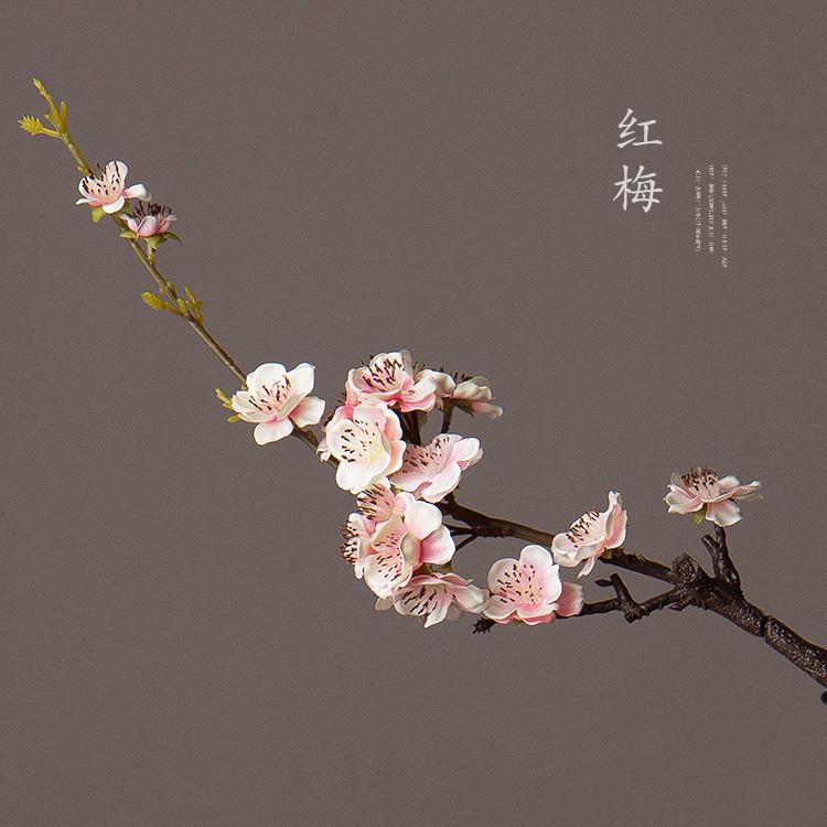 美式田園客廳梅花 中式現代假花模擬花絹布簡約家居插花花藝飾品