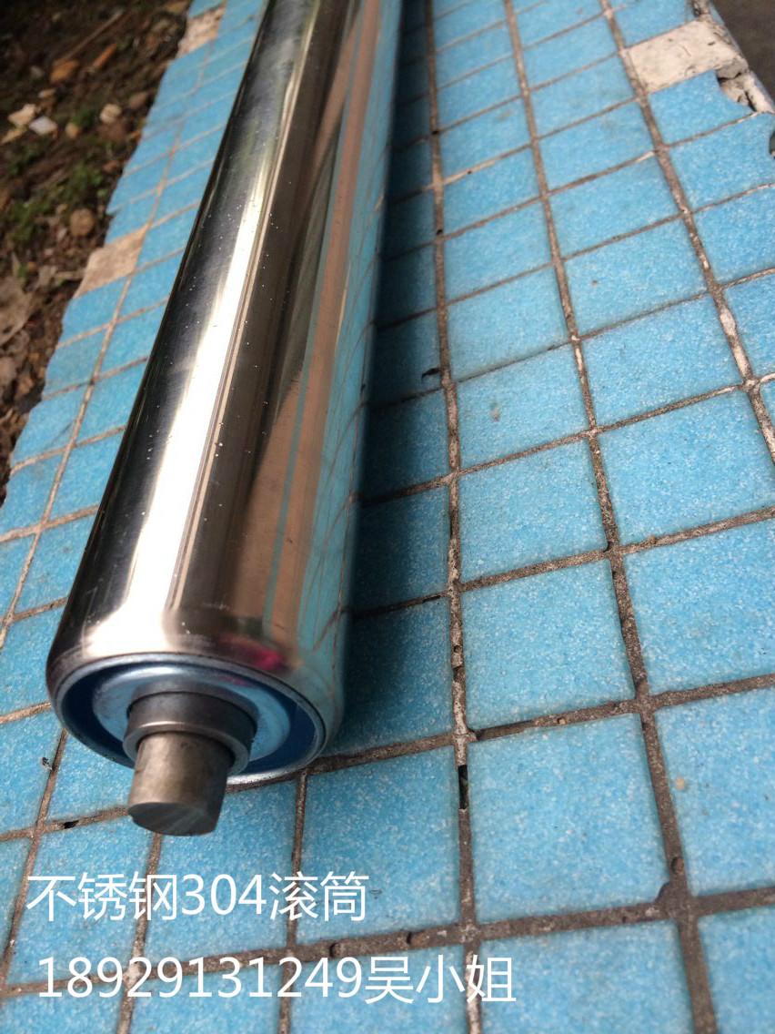 无动力滚筒托辊流水线滚筒滚轴输送带托滚不锈钢托辊镀锌滚筒