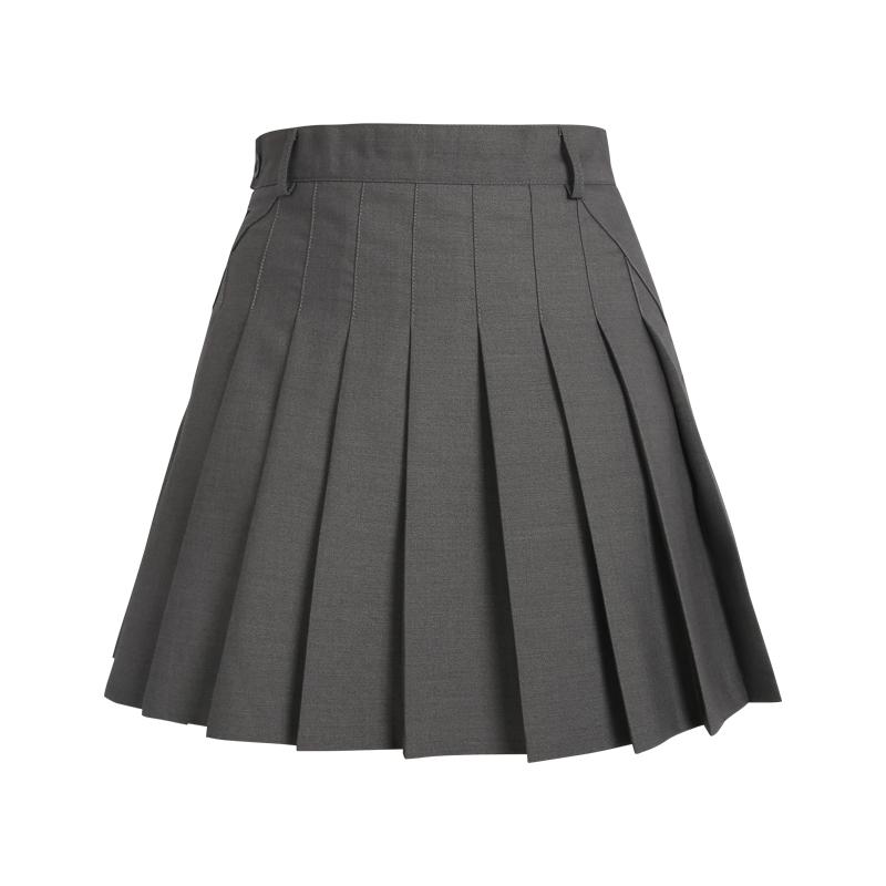 春夏季百褶半身超短裙子防走光学生学院风a字显瘦西装垂感伞裙女主图