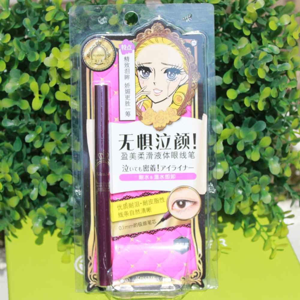日本kiss me夢幻淚眼極細眼線液筆 防水不暈染眼線液體筆黑色棕色