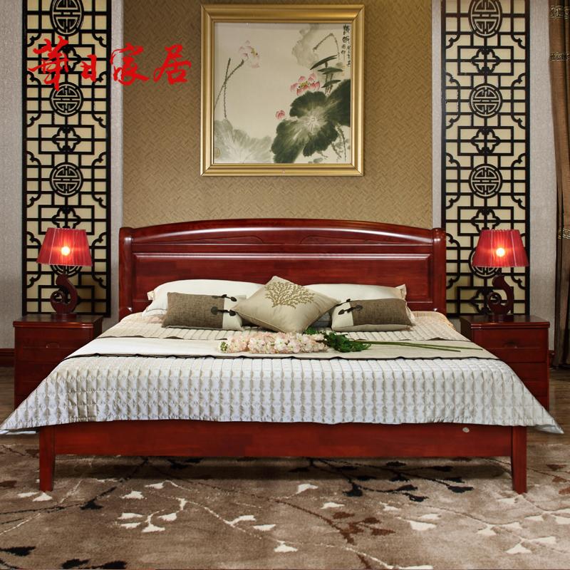 华日家居现代新中式简约全实木床1.8米双人床1.5米箱体储物床主卧