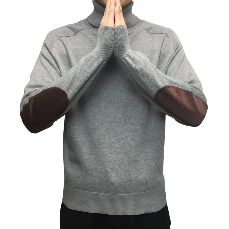 港风情侣装百搭日系复古针织衫修身文艺高领套头毛衣男韩版秋冬潮