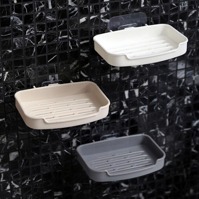 居家家壁挂沥水肥皂盒墙上免打孔香皂架卫生间香皂盒肥皂架皂盒架