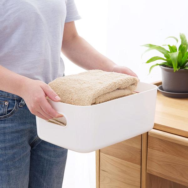 居家家塑料收纳筐,桌面杂物零食收纳盒