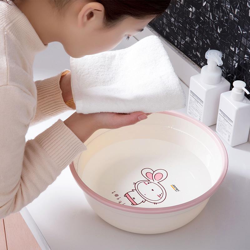 健安 卡通塑料盆加厚卫生间洗衣盆家用儿童洗脸盆大号洗衣服盆子