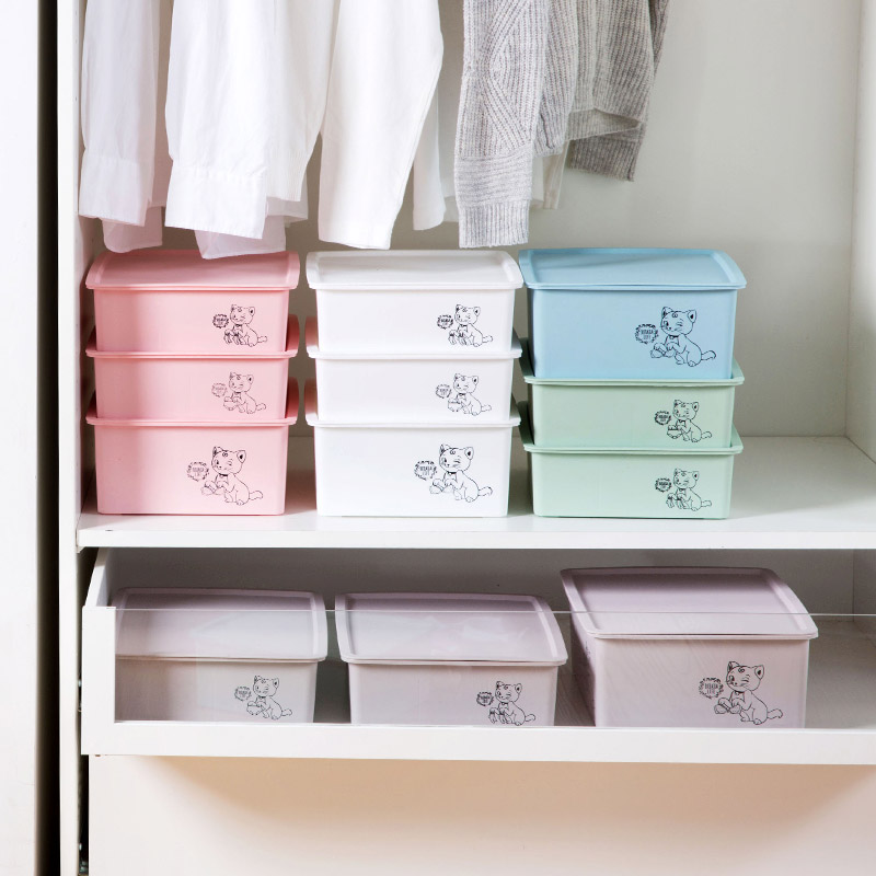 家用塑料衣柜内衣收纳盒抽屉内衣裤整理盒桌面文胸内裤袜子收纳箱