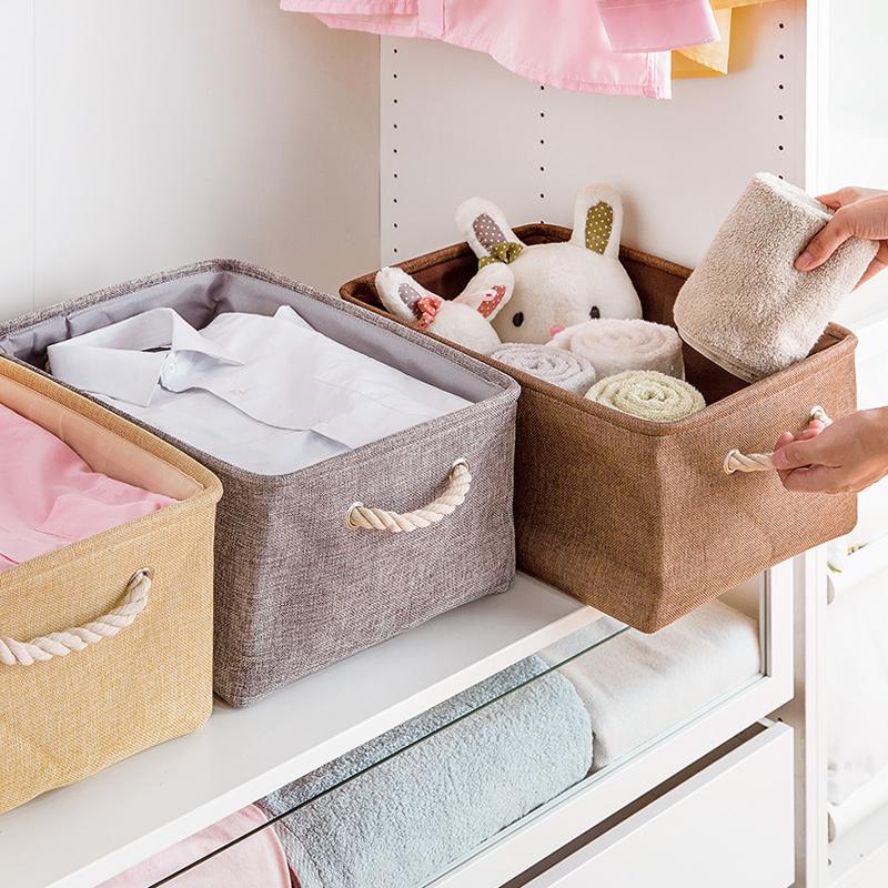 居家家 創意布藝收納筐衣櫃整理箱 衣物玩具收納儲物箱雜物收納盒