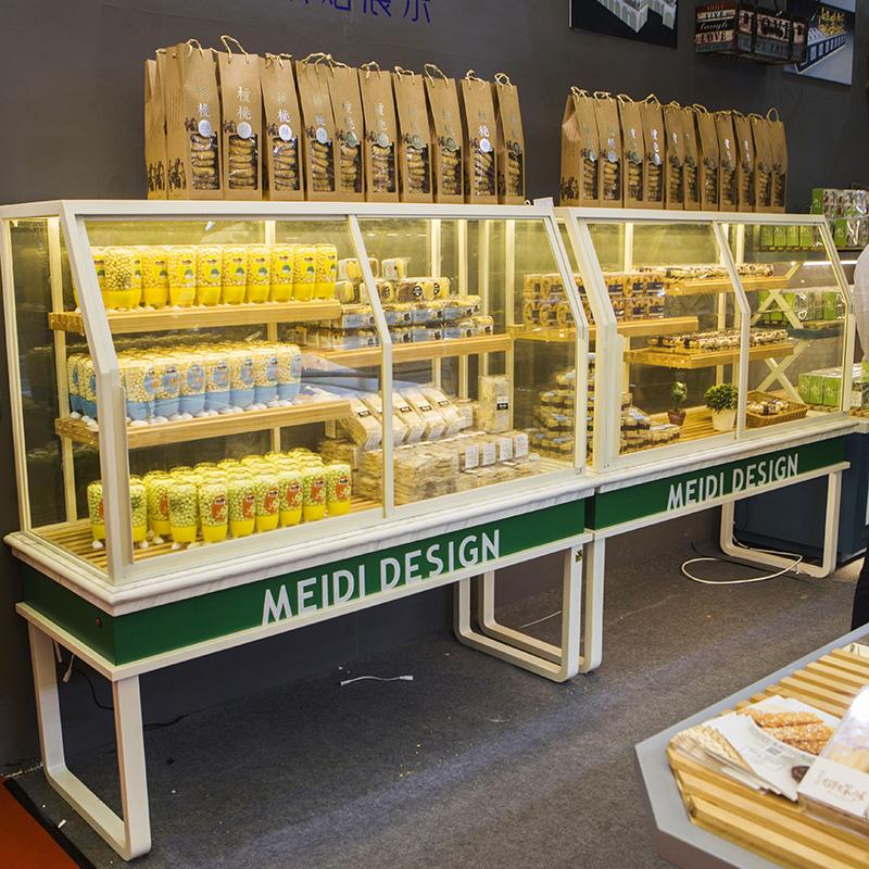 面包柜面包展示柜边柜货架抽屉式陈列架蛋糕柜台铁艺蛋糕展示柜
