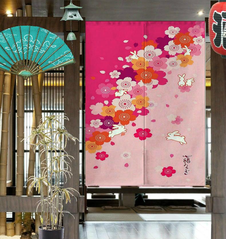 成品门帘出口日本正品日式花布艺风水帘挂帘装饰150cm厚款系列1