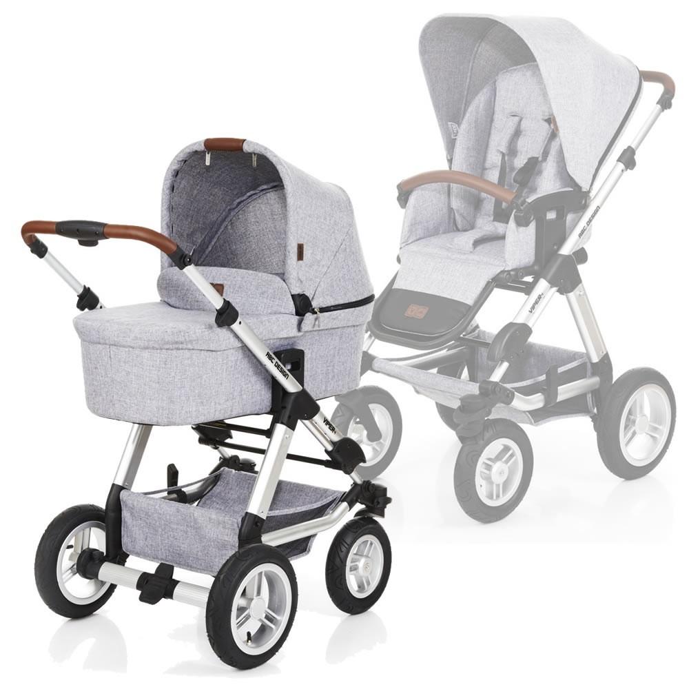 德国abc design viper四轮推车婴儿车高景观避震双向充气正品包邮