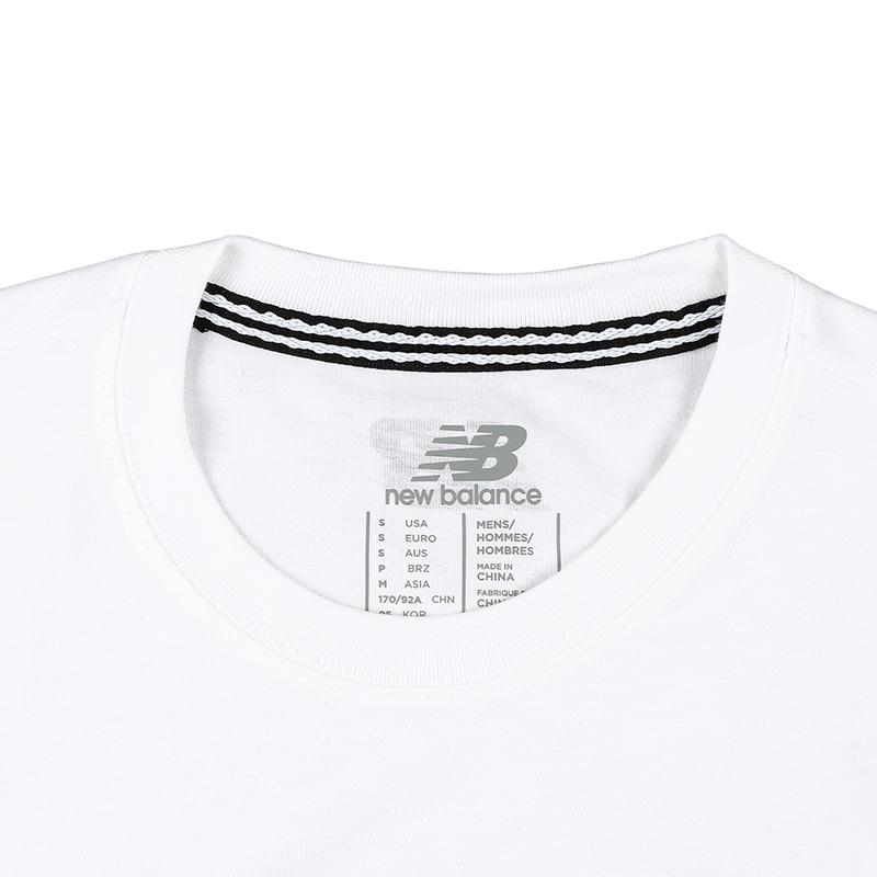 New Balance/NB 男款 夏季圆领短袖T恤上衣 休闲运动服AMT71640