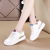 College style street shot graffiti shoes female 2020 new spring and summer wild increase in small fresh student sports white shoes
