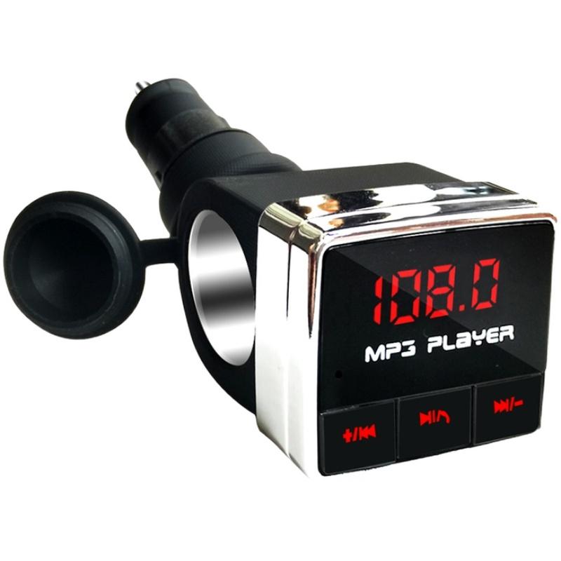 发射汽车用品多功能 fm 盘快充电器 U 播放器一拖一点烟器 MP3 车载蓝牙