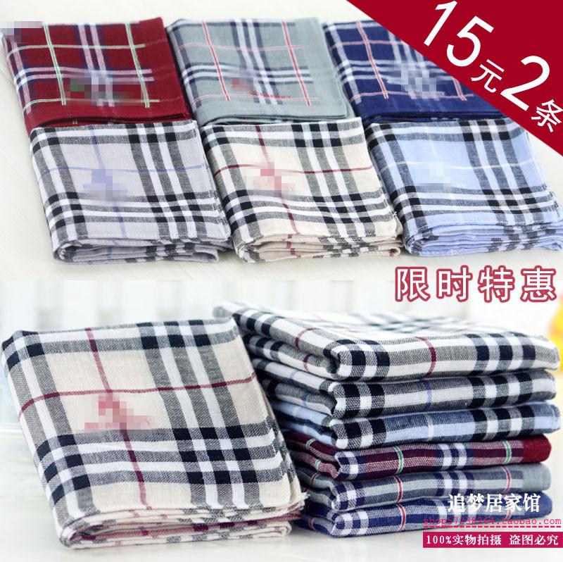 出口日韓純棉紗布手帕 全棉色織格子擦汗巾 金典格子圍巾 兒童巾