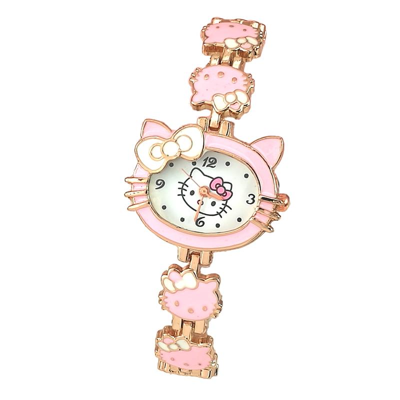 KT 猫女孩小学生萌萌可爱公主韩版幼儿电子表防水 手表儿童女童卡通