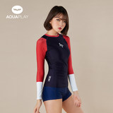 Korea AquaPlay diving suit female split long sleeve sun protection clothing snorkeling jellyfish clothing surfing Sugan was thin swimsuit