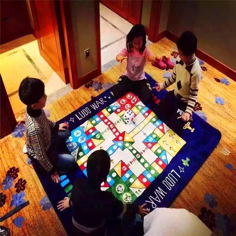 飞行棋地毯地垫超大号成人毛绒飞机棋游戏棋子儿童爬行垫爱情公寓