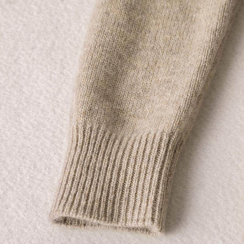 迪瑞羊羊绒衫女中长款半高领打底衫中领宽松纯山羊绒毛衣100%羊绒
