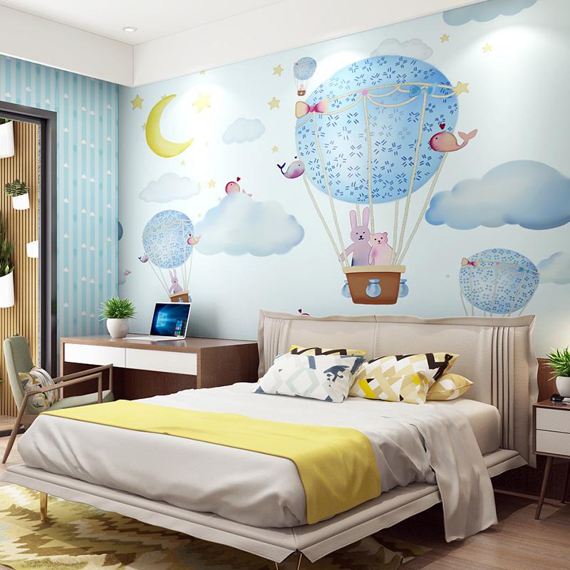 米素大型无缝壁画卧室客厅电视背景墙壁纸 儿童房壁画 缤纷气球