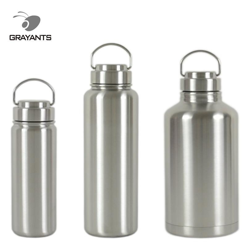 304全鋼廣口真空保溫壺保溫杯戶外不鏽鋼運動水壺保溫瓶大容量2L