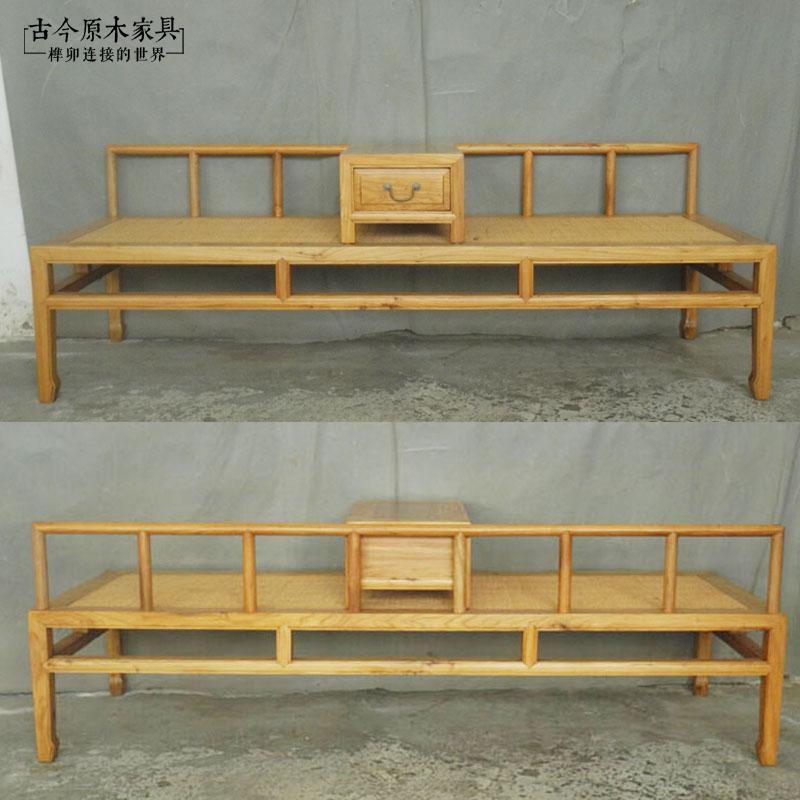 新中式实木红木贵妃椅BD006-3榆木刺猬紫檀木罗汉床沙发凳贵妃榻