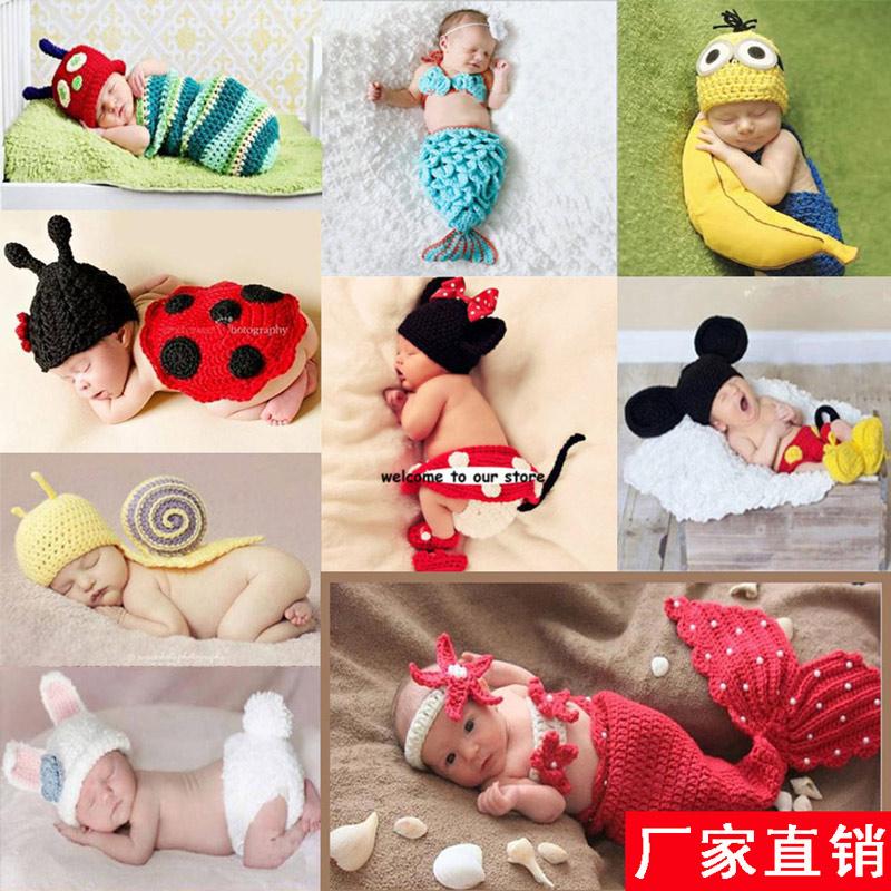 婴儿摄影衣服宝宝百天满月拍照服装新生儿照相儿童影楼艺术照道具