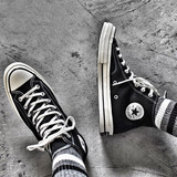 CONVERSE high-top canvas shoes 1970S Samsung standard black men and women Converse shoes 162050C 162053C