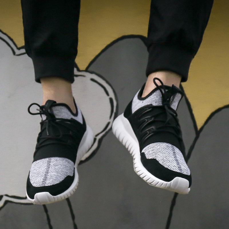 阿迪达斯男鞋三叶草 Tubular 小椰子休闲透气运动跑步鞋CQ1410
