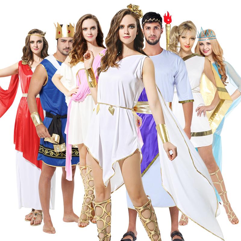 万圣节服装大人cosplay化妆舞会埃及男法老服装古希腊女艳后长袍
