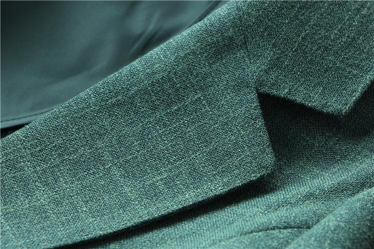 美的无可挑剔!罕见色调祖母绿显白皙岛国精品一粒扣西服外套女夏