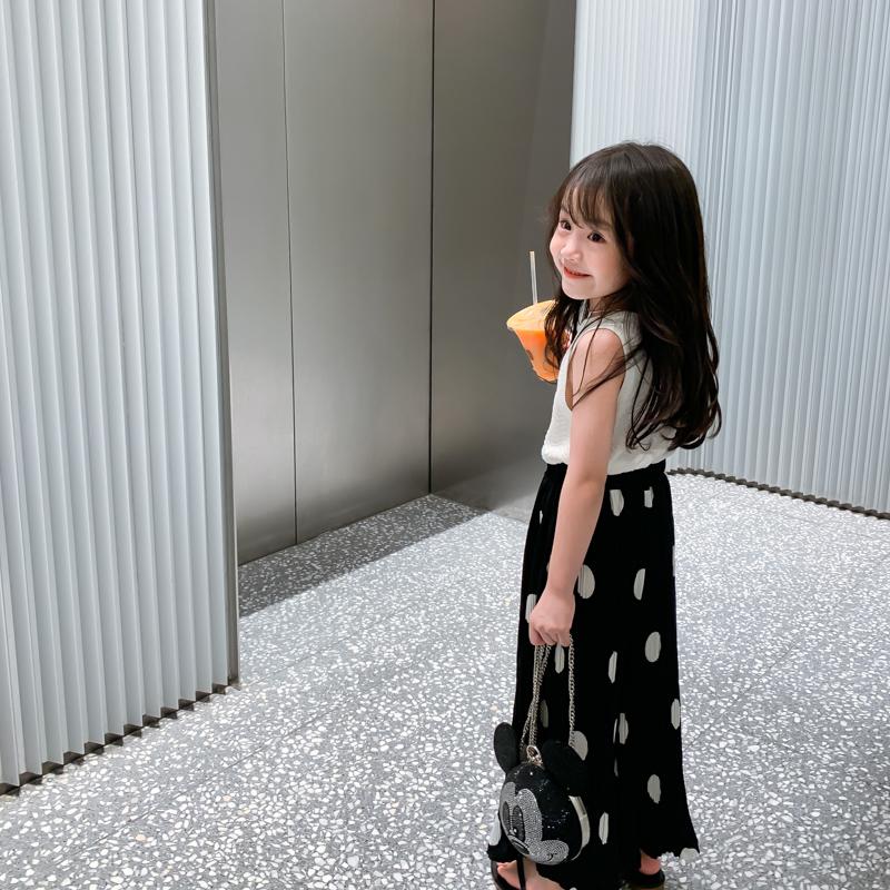 新款夏装儿童雪纺阔腿裤波点母女装外穿 亲子女童裤子  leobaby 2020