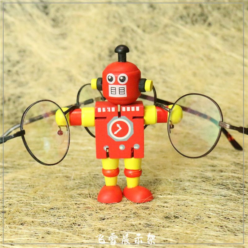实木彩色眼镜展示架卡通儿童太阳眼镜陈列道具眼镜店装饰摆件萌品