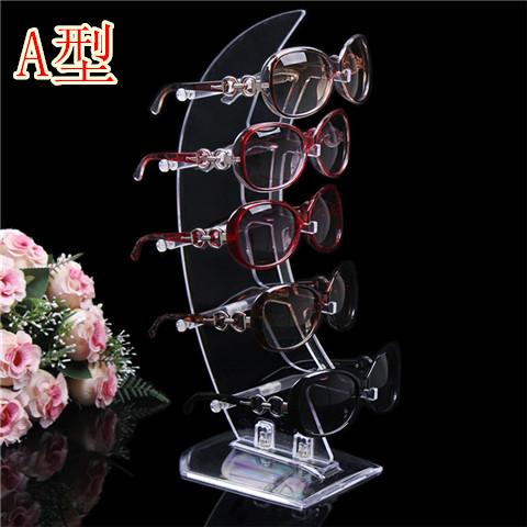 柜台摆放帆形眼镜展示架太阳镜展架道具墨镜陈列收纳架支架亚克力