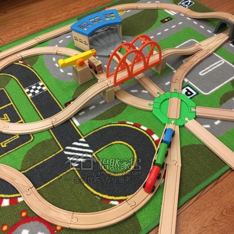 免代购费利乐宝基础型玩具火车木质轨道套装儿童拼插玩具国内宜家