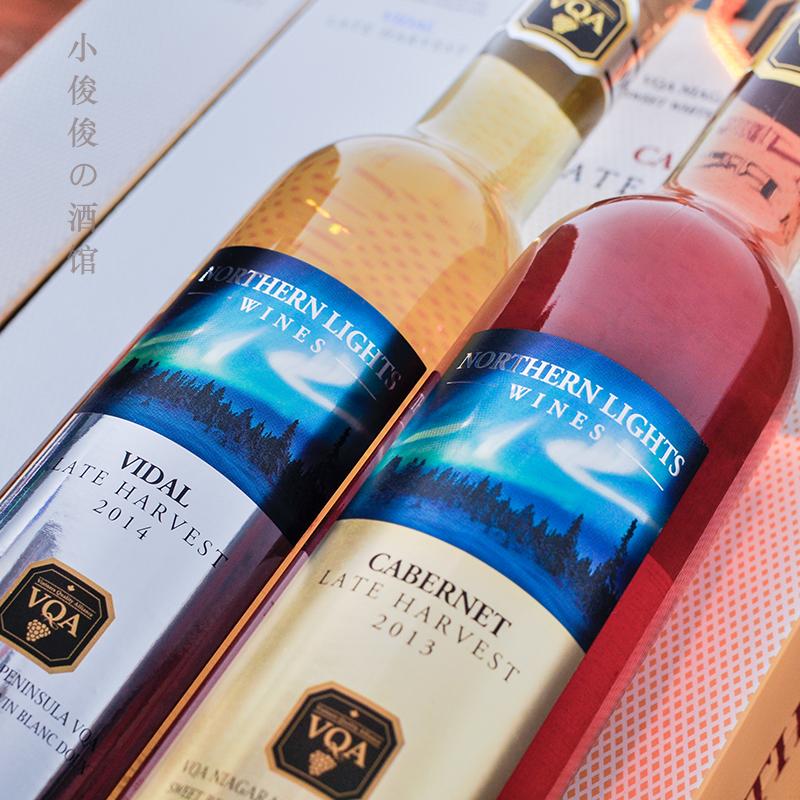 认证葡萄酒 vqa 冰红 冰白 vidal 加拿大进口晚收冰酒 双支礼盒装