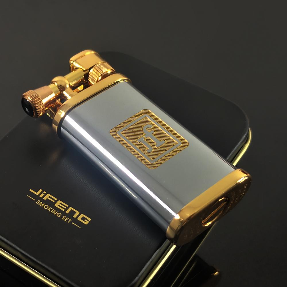 金豹纹金线字标铜材质手工打造 怀旧复古创意男士礼物 季风打火机
