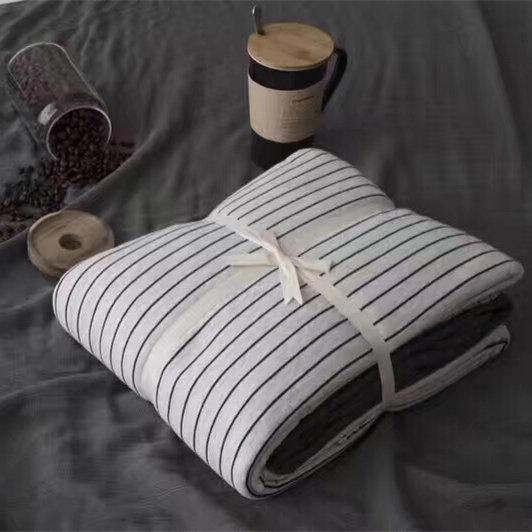无印风婴儿孕妇彩棉针织棉床单天竺棉四件套全棉裸睡 超柔良品