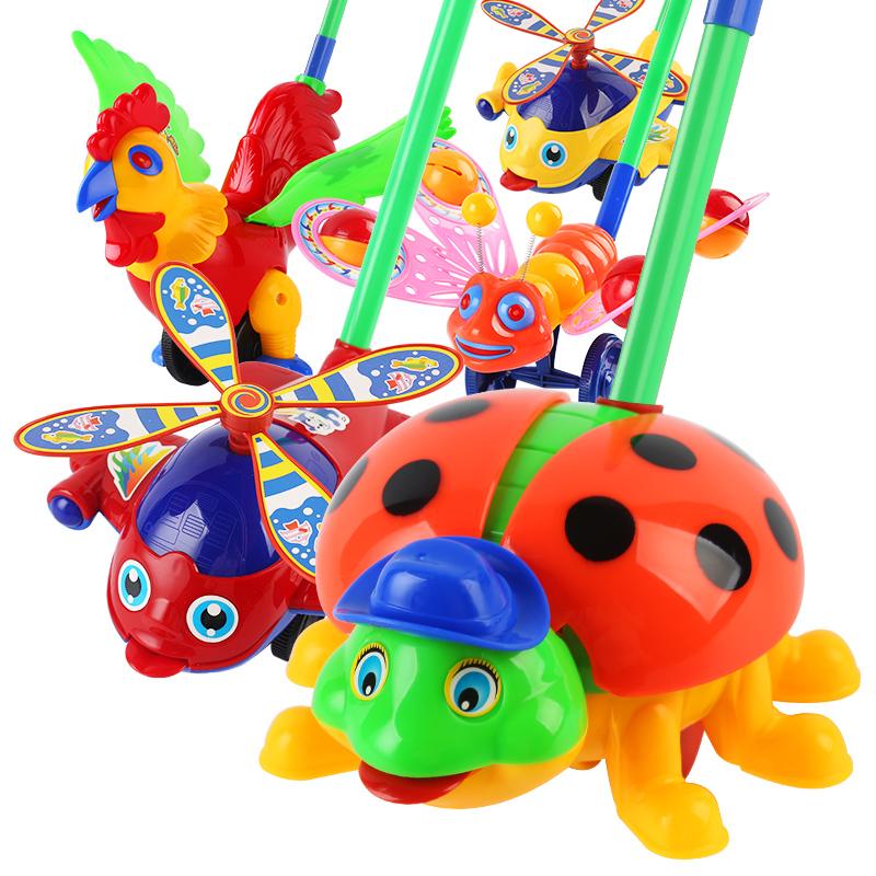 婴儿单杆学步手推车儿童推推乐多功能小飞机三周岁宝宝学走路玩具