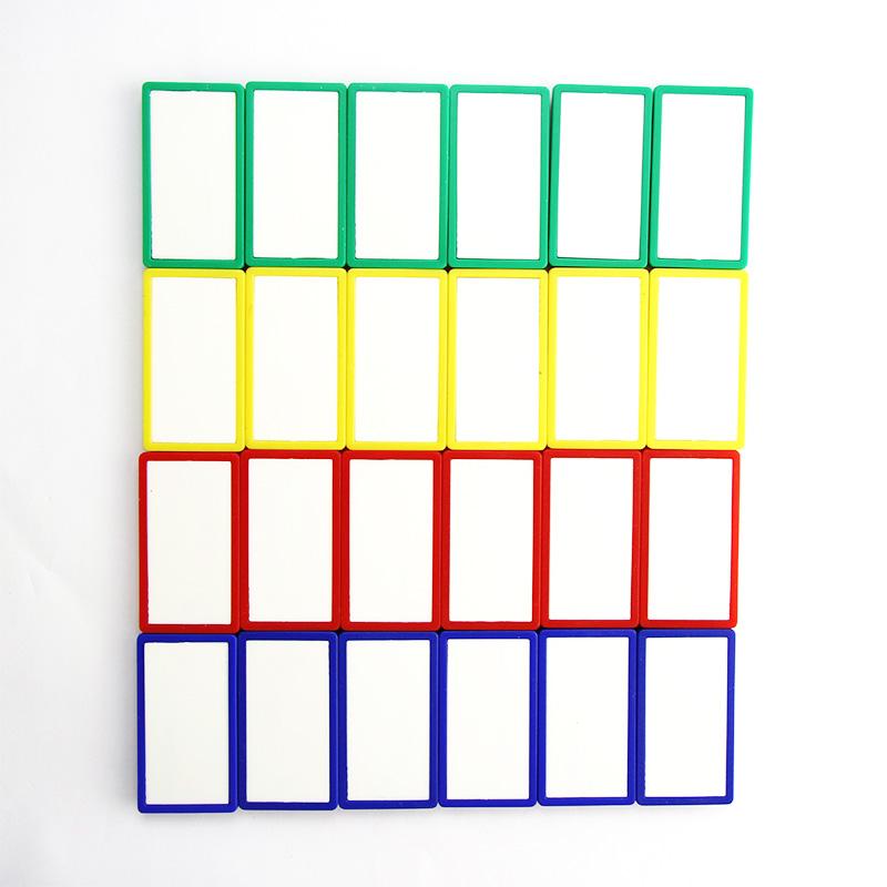 富尼CT-968 方形双色磁块磁吸磁扣磁铁 白板磁吸 冰箱贴 吸铁磁