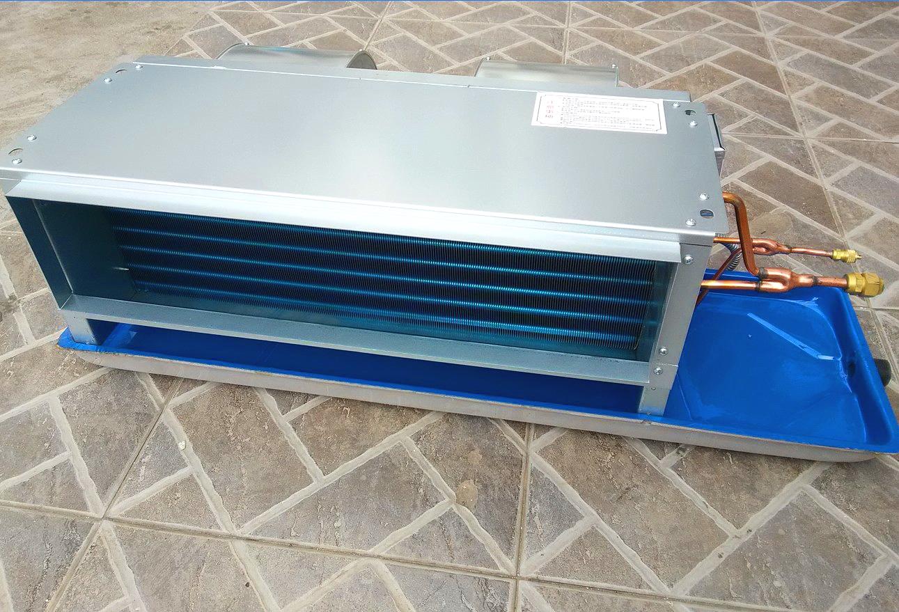 走氟风机盘管 下出风 水空调 卧式暗装风机盘管 赠开关亲水铝箔